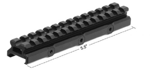 "Leapers UTG 0.55"" 13-Slot 20 MOA Elevated Picatinny Mount Base Rail MT-RSX20MOA"